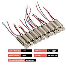 10Pcs 4x8mm DC1.5-3V Micro Coreless Motor For SANYO