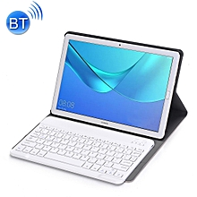 Detachable Bluetooth Keyboard Ultrathin Horizontal Flip Leather Case for Huawei MediaPad M5 10.8 inch, with Holder (Rose Gold)