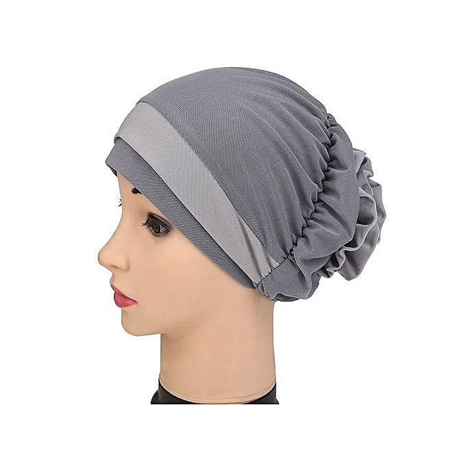 0fddfd1d261 Women Muslim Stretch Turban Hat Chemo Cap Hair Loss Head Scarf Wrap Hijib  Cap