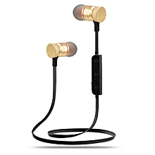 Bluetooth 4.1 Wireless Headphone Stereo Sports Earbuds In-Ear Headsets -Gold