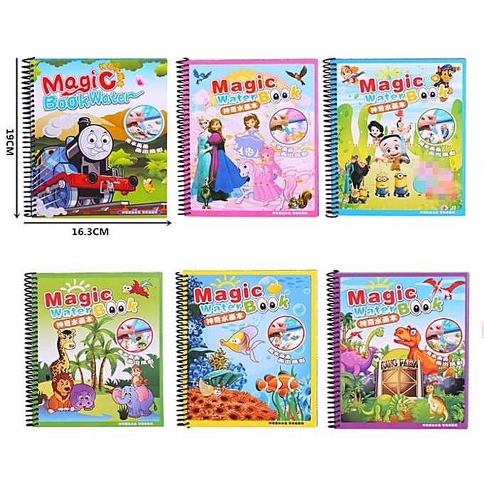 HP Magic Water Drawing Book Kids Painting Book Water Coloring Book Painting  Board multicolor
