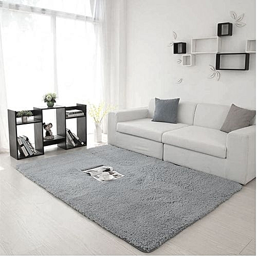 Fluffy Rug Anti Skid Shaggy Area Dining Room Carpet Bed Side Floor