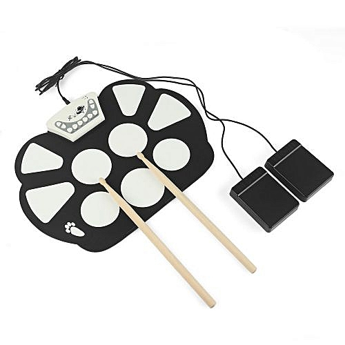 Buy Generic Portable Roll Up Drum Pad Set Kit Digital Electronic