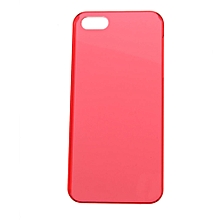 CO Smooth Crystal Plastic Hard Skin Back Case Cover Protector For Apple iPhone 5-Transparent red
