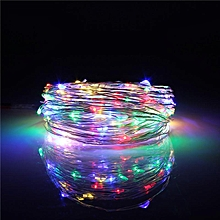 10M 100 LED Silver Wire String Fairy Light Battery Chirstmas + Remote Controller GGB