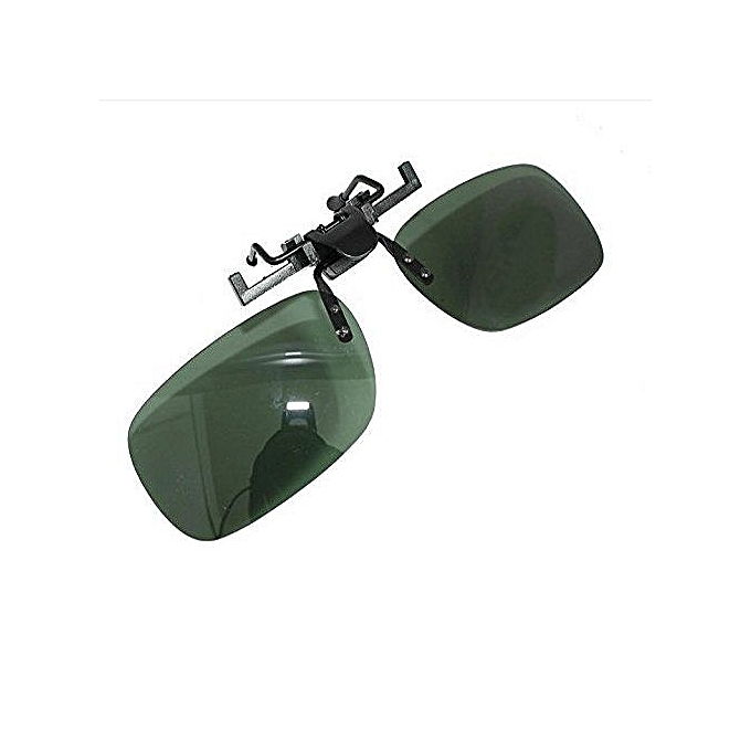 ac222994796 Unisex Polarized Sunglasses Flip Up Clip On Myopia Lens Glasses For Day Use  Dark Green( ...