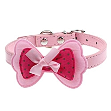New Double Bowknot Adjustable Pet Collars Cat Dog Puppy Pet Collars PK