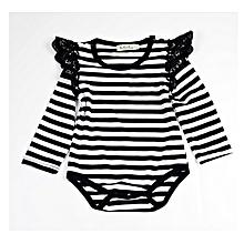 Newbron  Babysuits  Rompers  LongSleeve Lace edge Jumpauit Baby Girl's Boy's  One Picece Clothings Summer Autumn  Baby Clothings 70cm-100cm