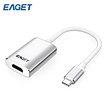 EAGET CH10 Type-C to HDMI Adapter HD Video Converter Support 1080P SILVER