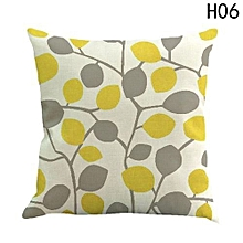 Hequeen  New Striped Branches Bird Leaves Comfortable Sofa Festival Pillow Case Cushion Cover