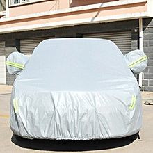 PVC Anti-Dust Sunproof Sedan Car Cover with Warning Strips, Fits Cars up to 4.5m(176 inch) in Length