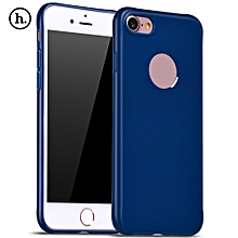 Juice Series Solid Color TPU Soft Protective Skin For IPhone 7 - Sapphire Blue