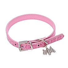 Pet Collar Puppy Cat Choker Necklace Pink M