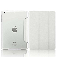 Mini 3 Case, Coosybo-Smart Cover Folded Ultra Thin Luxury Leather Protective Matte Case For Apple IPad Mini 1 2 3 (Silk-White)