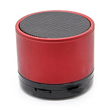 Mini Bluetooth Wireless Stereo Speakers FM, Memory Card, Bluetooth, USB - Red