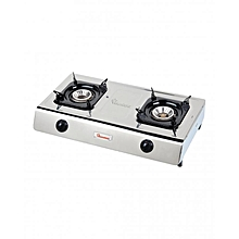 RG/518- 2 Burner Gas Cooker- Stainless Steel- Silver