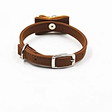 Hot Cute Bow Bell Bell Collar Small Dog Collar Cat Collars Coffee