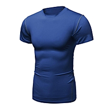 Mens Compression Under Base Layer Thermal Shirt Tops Gym Running Tight T-Shirts