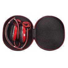 Olivaren Portable Mini Round Hard Storage Case Bag For Earphone Headphone SD TF Cards -Black