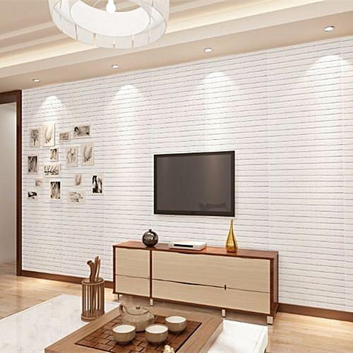 Universal 3d Brick Pattern Wallpaper Bedroom Living Room Modern Wall