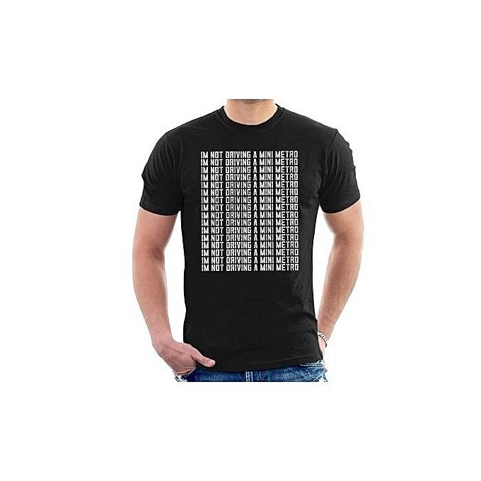 Fashion Alan Partridge Im Not Driving A Mini Metro Mens T Shirt Xs