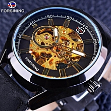Forsining GMT1019-4 Casual Sport Series Waterproof Steampunk Watch Mens Watches Top Brand Luxury Automatic Watches Men Skeleton Clock WWD