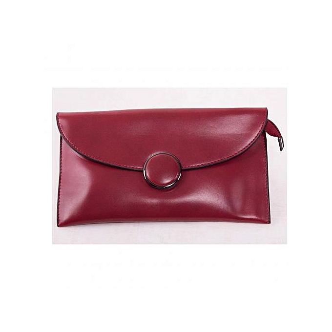 Wine Red Dinner Clutch Bag