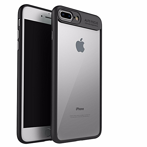 competitive price b3c81 903c8 Apple iPhone 8 Plus/ 7 Plus Hard PC TPU Ultra Slim Clear Case Premium  Hybrid Protective Cover (Black)
