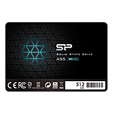 """Silicon Power 512GB SSD 3D NAND A55 SLC Cache Performance Boost SATA III 2.5"""" 7mm (0.28"""") Internal Solid State Drive (SU128GBSS3A55S25AC) by SP Silicon Power"""