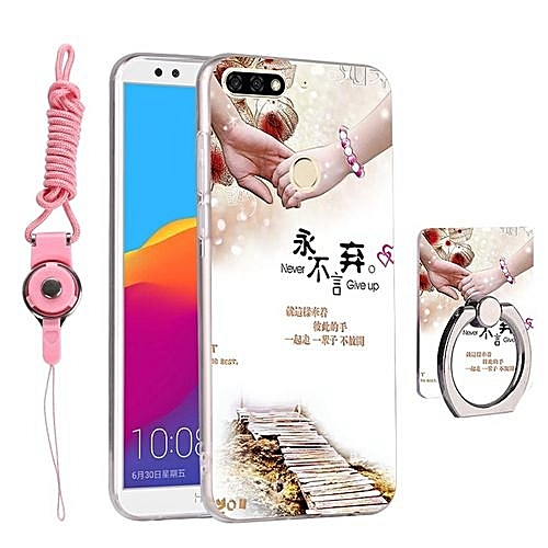 705ab9c5abc Generic 3D Relief Pattern Phone Case Soft TPU Back Cover Shell for Huawei  Honor 7C Huawei Enjoy 8 5.99