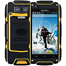 4.0 inch  V8 Android 4.4 3G Smartphone MTK6572 1.0GHz Dual Core WiFi GPS Waterproof Dustproof Shockproof 4GB ROM-YELLOW