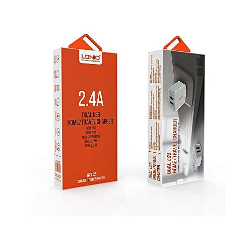 2.4A EU Dual USB Port Output Fast Home / Travel Charger