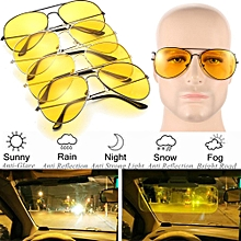 e5e7fdf6e55 Unisex Night Driving Glasses Glare Vision Driver Safety Sunglasses Goggles  Adult