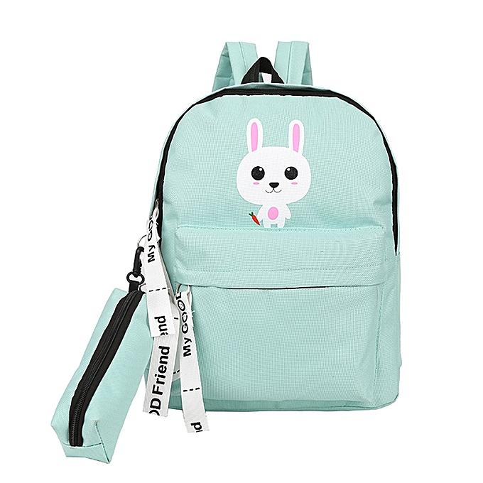 Hiamok Adult Backpack Teenage Girls Bogs School Backpack Bag Cartoon  Students Bags 20accee3d9626