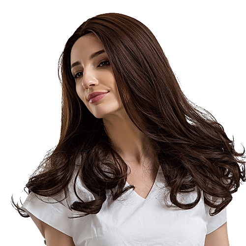 Buy Generic Jiuhap Store Fashion Brown Middle Parting Long Curly