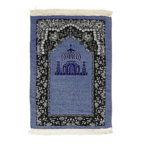 70x110cm Ramadan Ic Muslim Prayer Rug Carpet Mat Mosque Chenille Tel