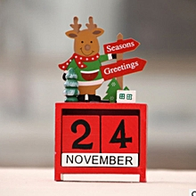 Christmas creative gift wooden calendar decoration ornaments multicolor