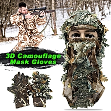 Hunting Full Face Mask 3D Camouflage Head Cover Sneaky Leaf Hat Cap