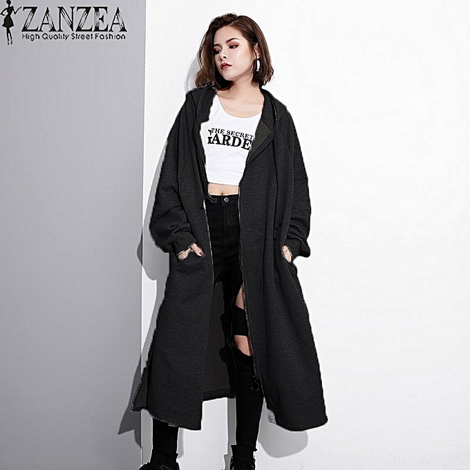03fce71ce ZANZEA ZANZEA Winter Autumn Women Fashion Coat Long Sleeve Zipper ...