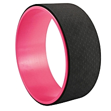 "Yoga Wheel Health&Fitness-Extra Strength Prop with Premium Mat Material 13"" BA #black&pink"