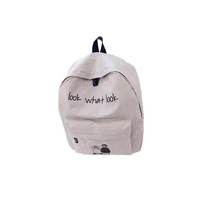 1c14d327dddb Men And Women Look What Look Casual Canvas Backpack Travel Bag School  Backpacks