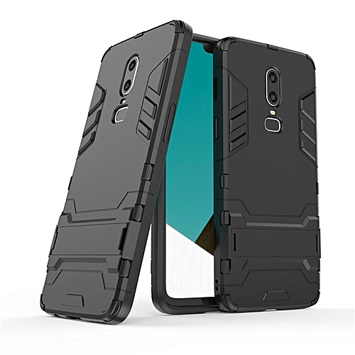 promo code 97ee3 126d2 For OnePlus 6 Case Plastic Soft Silicone Rubber Armor Stand Cover For  OnePlus6 One Plus 6 Full Cover Funda Coque With Phone Holder