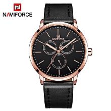 NF3001 Men Watch Brand Sport Quartz Watches Hour Date Day Pointer Luminous Military Army Business Leather Wrist Watch
