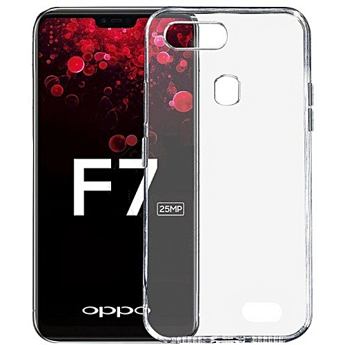 low priced c8b6d 6b3d0 Oppo F7 Back cover - Clear