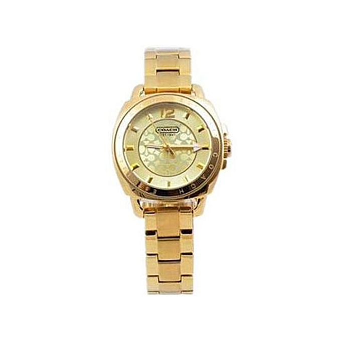 0ebf61b3f22 Generic Classic Coach Women s Gold stainless steel Watches 14501535 ...
