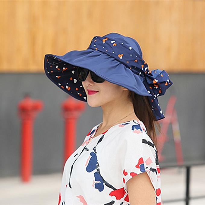 e011bcdfa6e Women Ladies Summer Outdoor Beach Sun Protective Hat Driving Anti-UV Wide  Brim Visor Caps