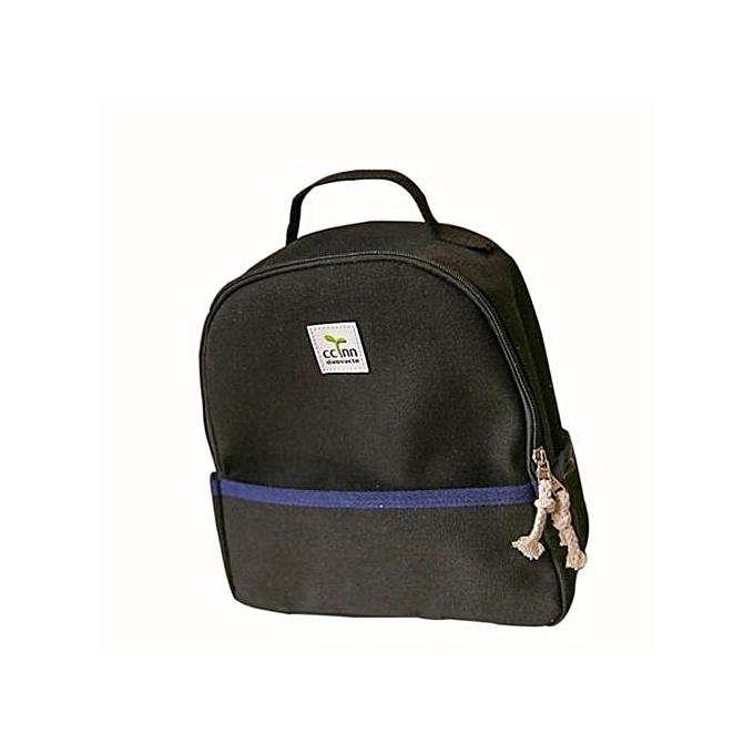 e60271644085 Girls Boys Canvas School Bag Travel Backpack Satchel Women Shoulder  Rucksack BK- Black
