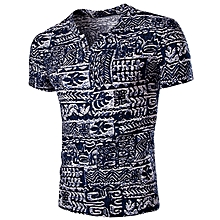Men's Casual Abstract Printing T-Shirt - Colormix