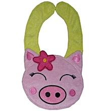 Baby Kids Infant Animal Toddler Cartoon Saliva Towel Lunch Bibs ?-Pink