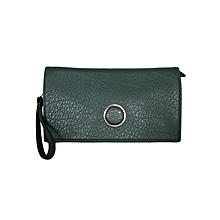 Green Shoulder Bag/ Baguette